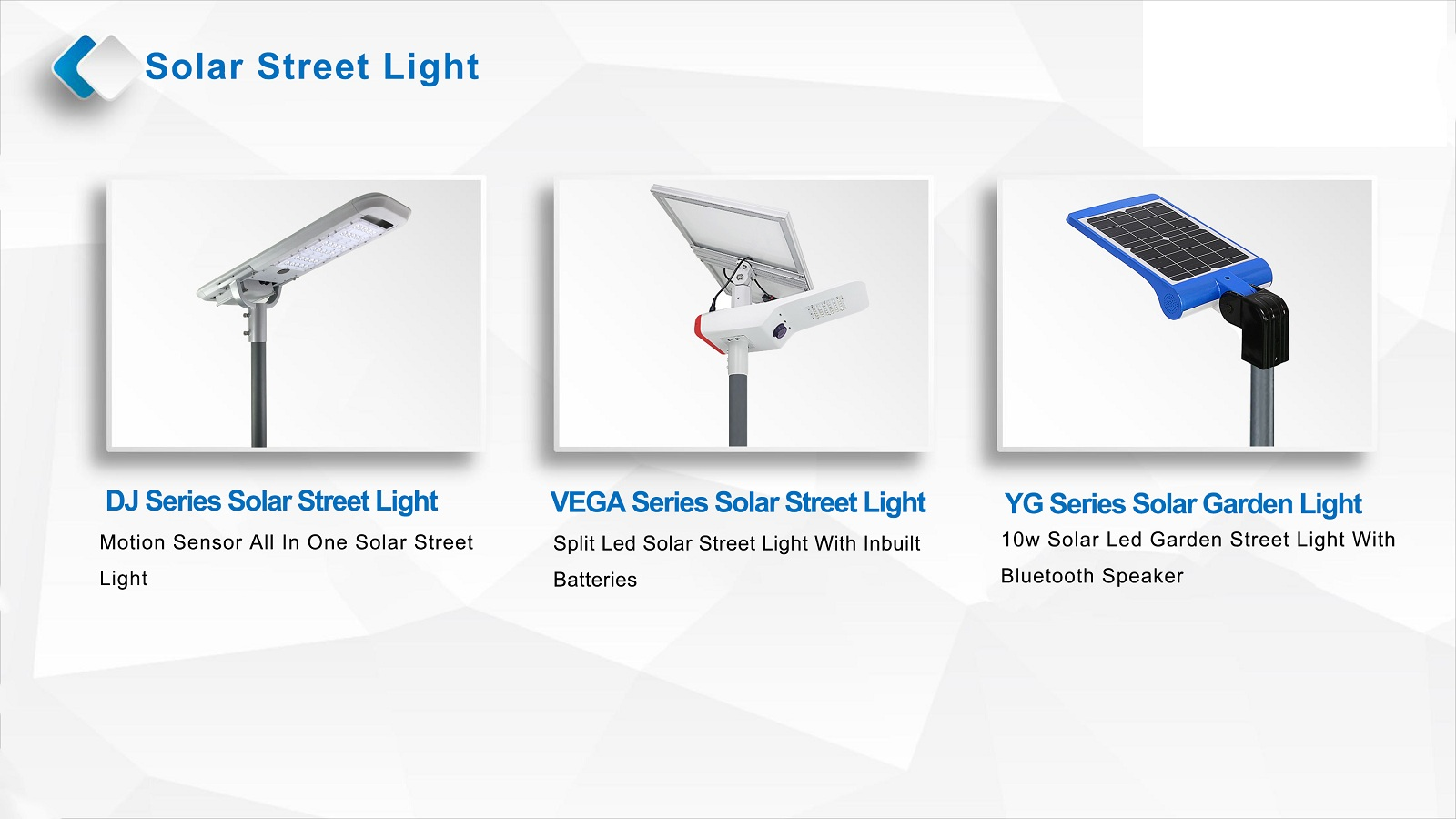 5years warranty solar led street light